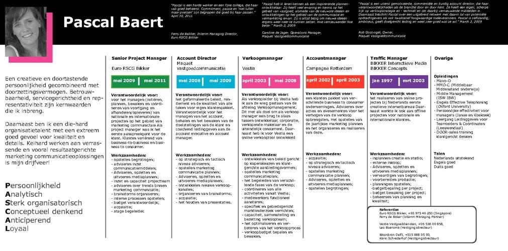 CV Pascal Baert