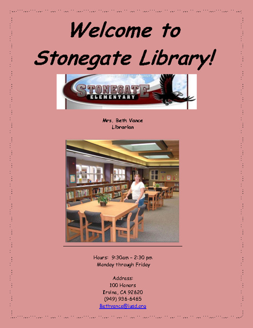 stonegate library marketing brochure