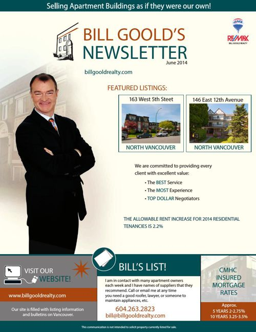 Bill Goold Newsletter June 2014