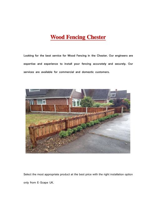 Wood Fencing Chester
