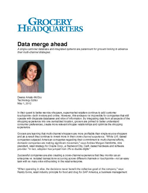 May 2012 SAP Retail Media Coverage