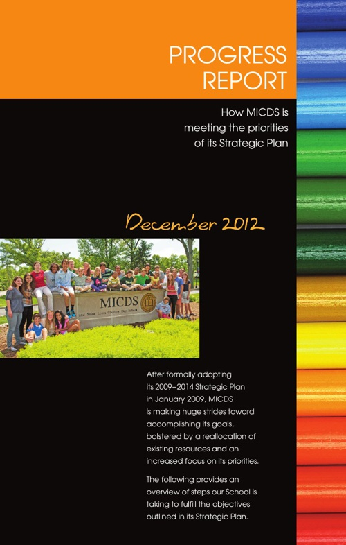 December 2012 Strategic Plan Progress Report