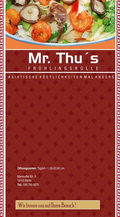Mister Thu's Speisekarte