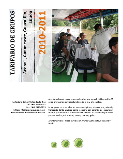 Tarifas Grupos 2010-2011