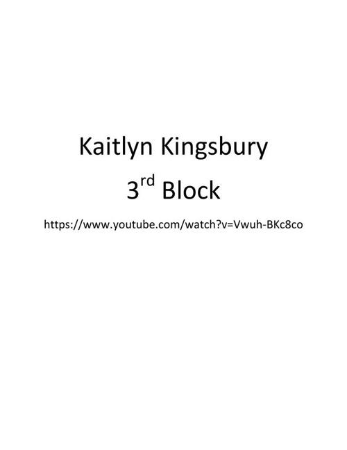Kaitlyn Kingsbury Career Portfolio
