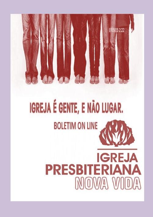 BOLETIM MARÇO/ABRIL IGREJA PRESBITERIANA NOVA VIDA