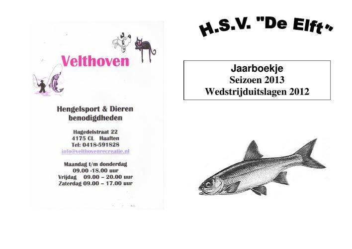 Jaarboekje 2013 HSV de Elft