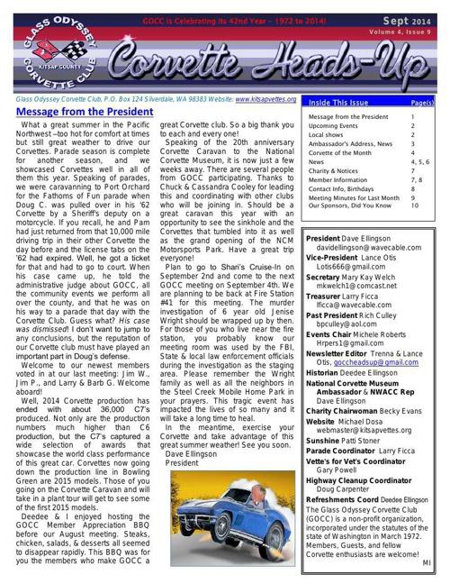 GOCC September 2014 Newsletter