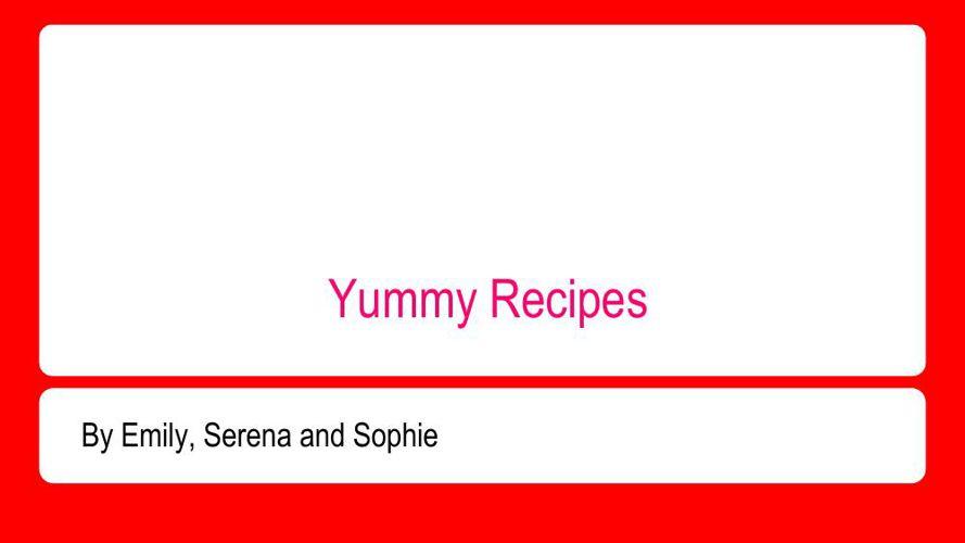 Yummy Recipes (3)