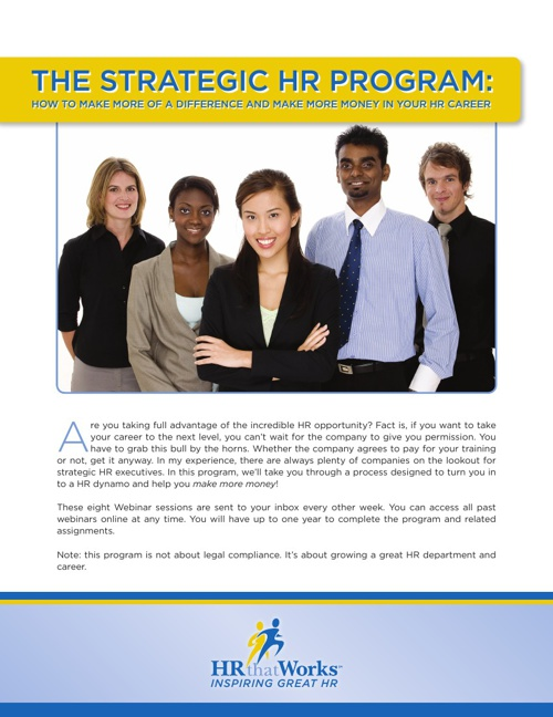 Strategic HR Program Brochure