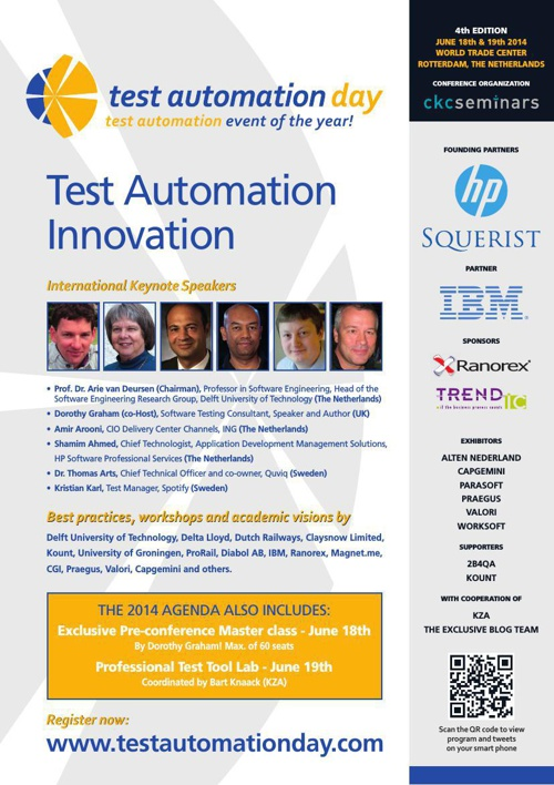 Test Automation Day 2014