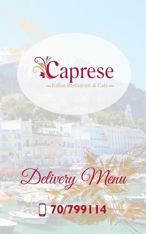 Caprese delivery menu