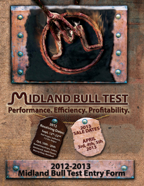 Midland Bull Test Entry Form  flyer