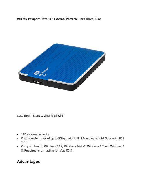 WD My Passport Ultra 1TB External Portable Hard Drive