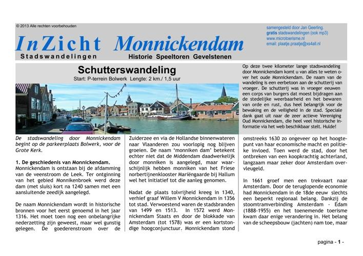 Stadswandeling Monnickendam (NL)