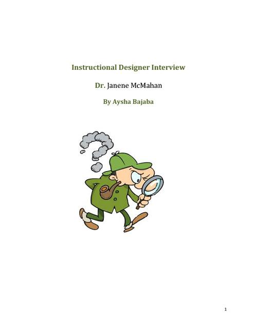 Instructional Designer Interview: Dr. Janene McMahan