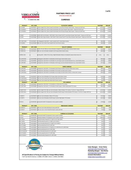 PARTNER PRICE LIST - OCTOBER 2014