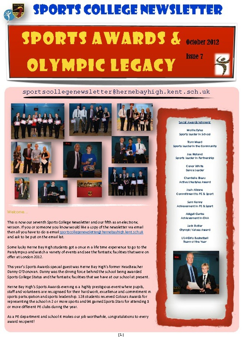 Sports College Newsletter 7