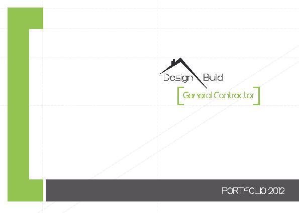 Portfolio 2012 - Design and Build