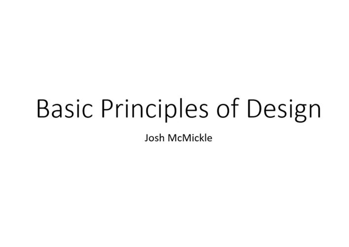 Basic Prinsiples of Designs