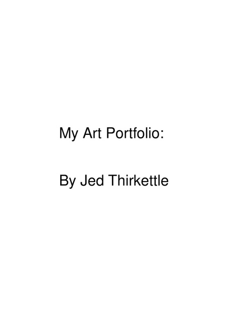 Jed Thirkettle's Portfolio
