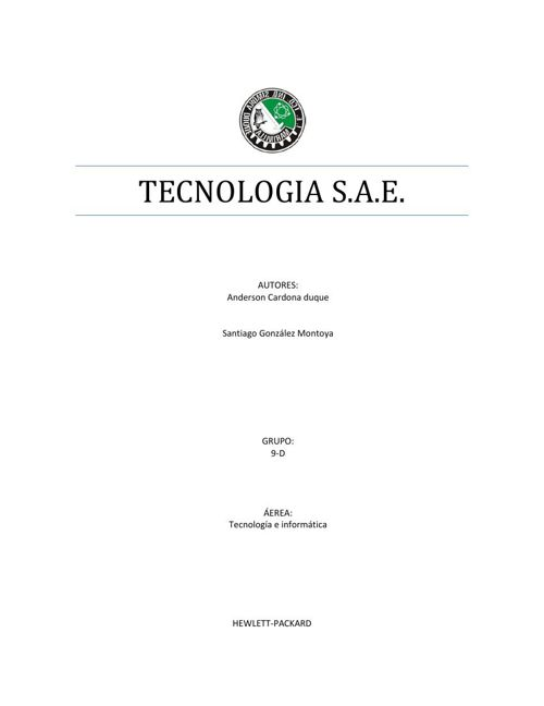 tecnologia S.A.E.