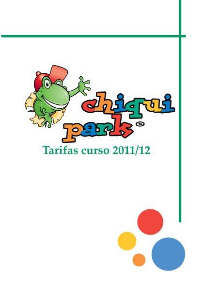 Tarifas Chiquipark Huesca 2012