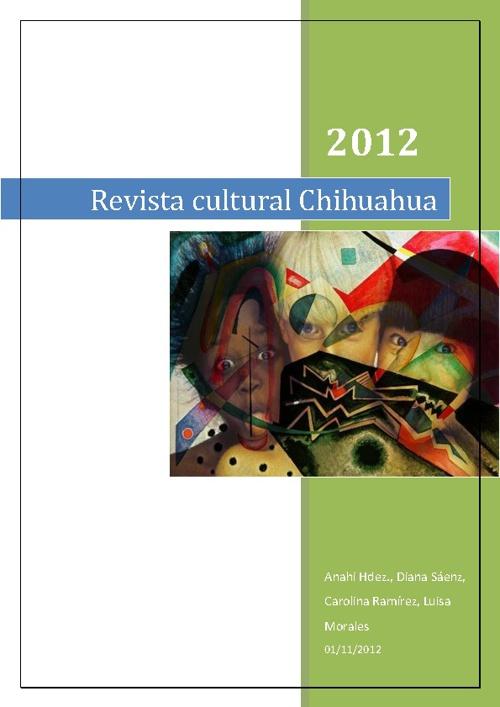 Revista cultural de Chihuahua