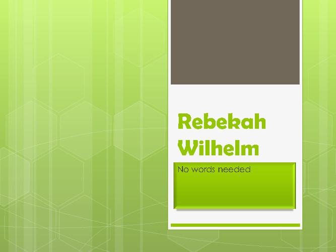 Rebekah Wilhelm's Flip Book