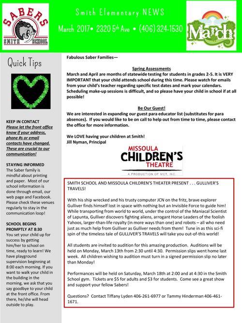SmithNewsletter March 2017