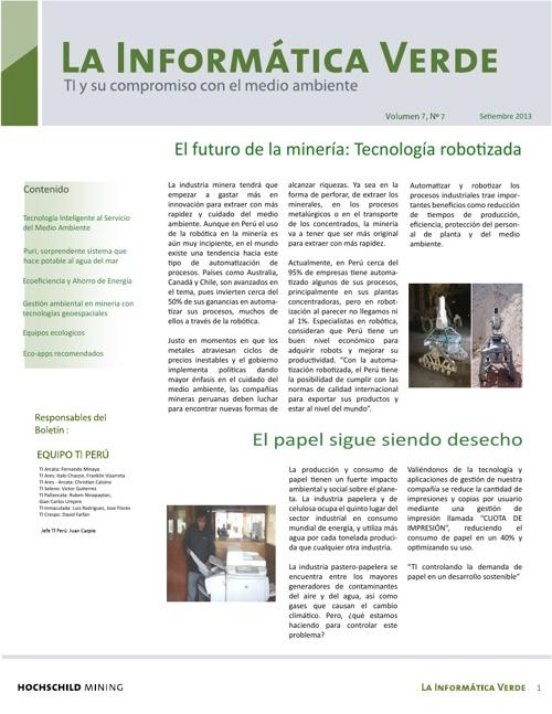 Boletín La Informática Verde