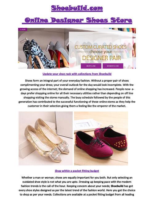 Shoebuild - Shoebuild.com
