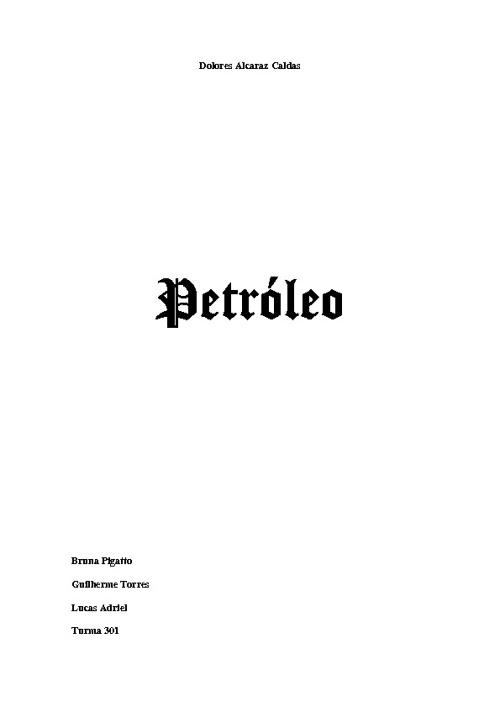 Trabalho - Petróleo