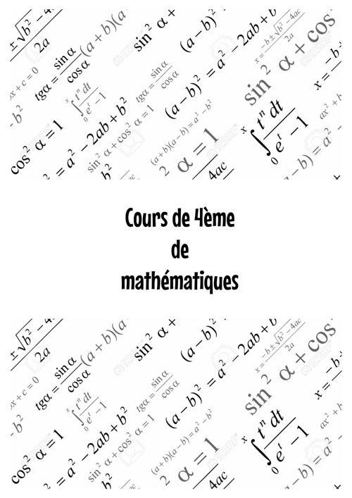 Cours 4eme math