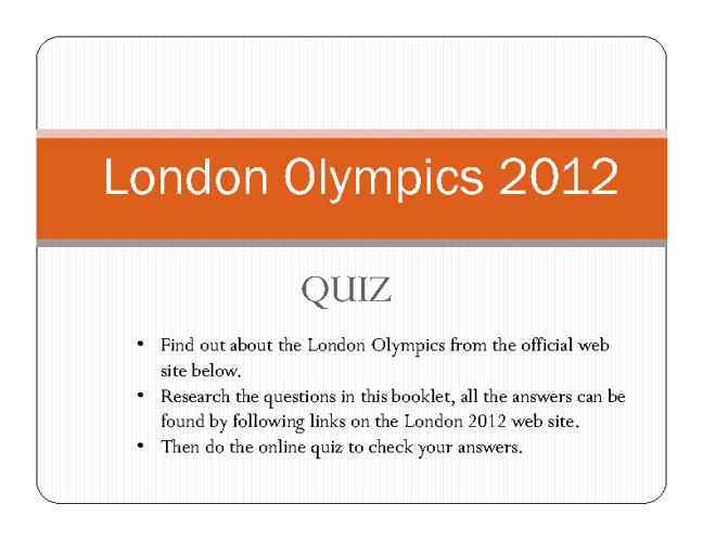 London Olympics 2012 Quiz