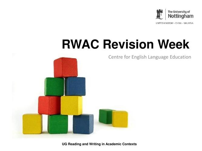 Week 13 RWAC PPT