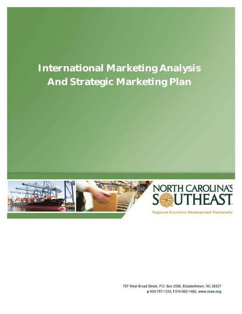 International Marketing Analysis and Strategic Marketing Plan