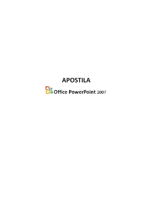 Office Power Point 2007 Apostila