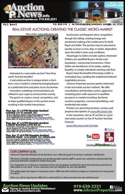 April JP Auction Newsletter