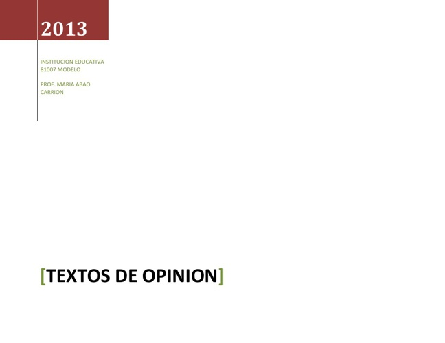 Copy of TEXTO DE OPINION