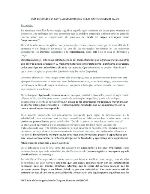 Guía de Examen de Administración Instituciones de Salud