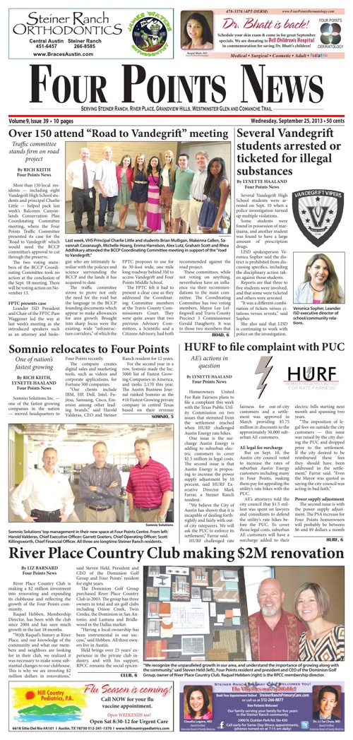 Four Points News September 25, 2013 Issue