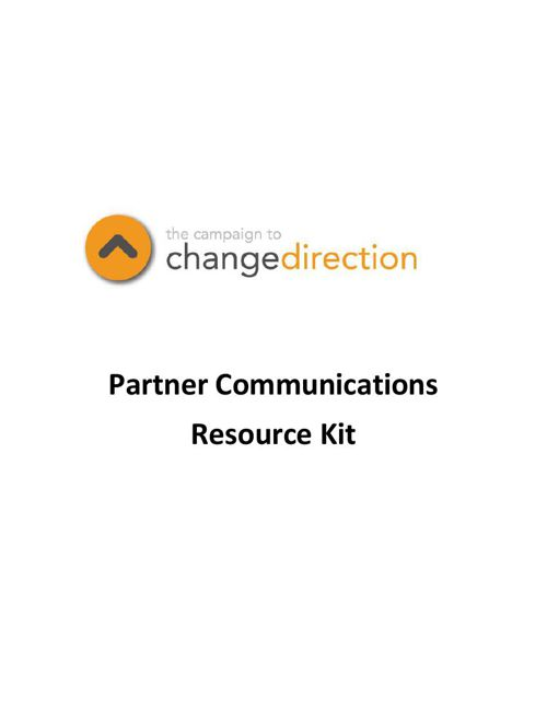 Change Direction Partner Communications Resource Kit