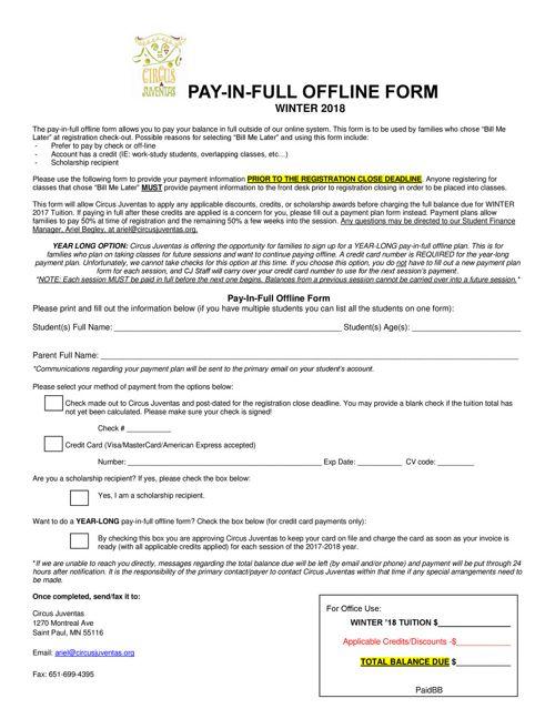 WT18_Pay-In-Full Offline form