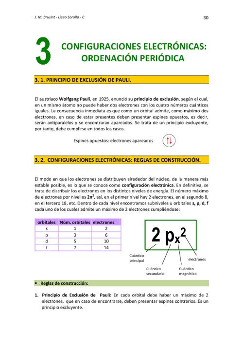 Tema 3. Configuraciones y Sistema Periódico
