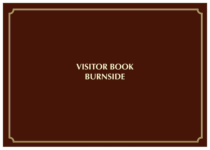 visitor book Burnside - Isle of Mull