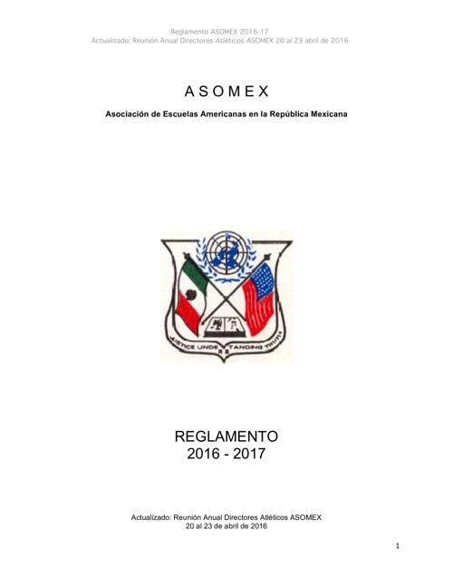 A S O M E X REGLAMENTO 16-17