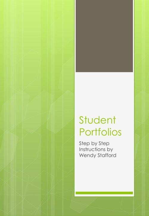 Student Portfolios - Step by Step guide