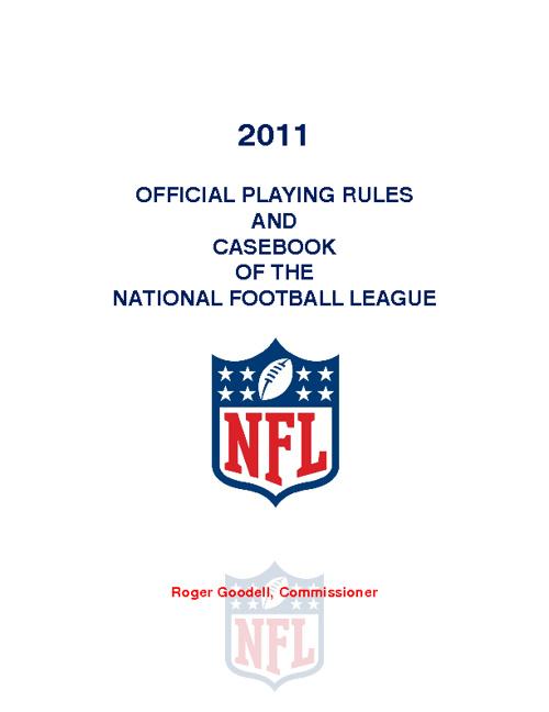 NFL Rules.