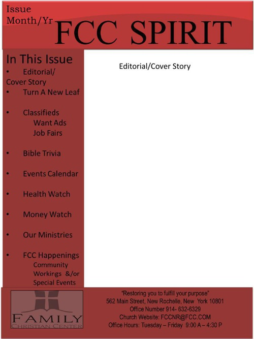 FCC Newsletter Sample - Online Copy